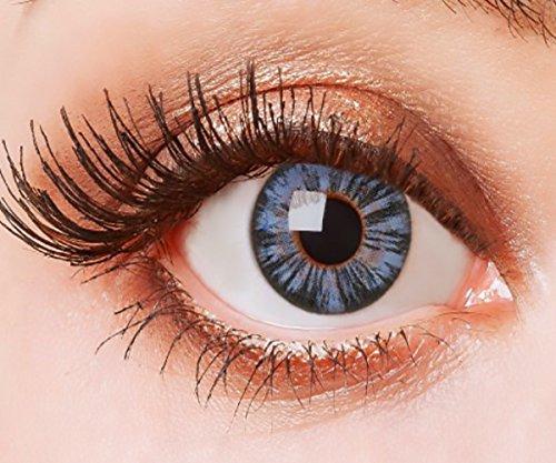 Farbige Kontaktlinsen Blau Ohne Stärke Weiche Natürliche Jahreslinsen Blaue Linsen Farblinsen 0 Dioptrien Big Eyes Dolly Pacific Blue