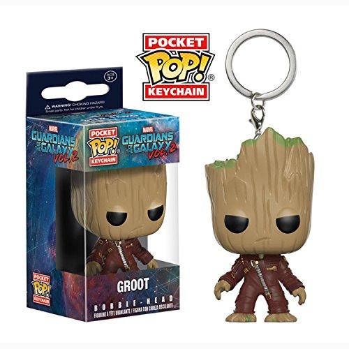 Porte-Clés Pocket Pop ! Keychain – Marvel Les Gardiens de la Galaxie vol.2 – Bobble-Head Groot