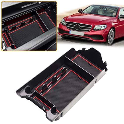 Für ClassE (Dual-USB-Anschluss) Mittelkonsole Armlehne Aufbewahrungsbox Einsatz Organizer Tablett Armrest Storage Box Tray ABS - Dual-tray Storage