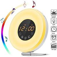 Wecklicht, Aufwachen mit Licht, FM Radio, Smart Snooze/Sonnenuntergang Funktion, 6 natürliche Alarmtöne, 10 Helligkeitsstufen... preisvergleich bei billige-tabletten.eu