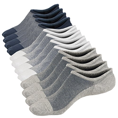 6 Paare Herren Low Cut Invisible Knöchel Socken ohne Slip Athletic No Show Socken (Cut Herren-socken Low)