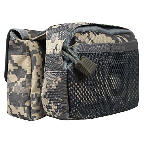 xhorizon® Hochdicht Wasserfest Militärtuch Fahrrad Radfahren RahmenPannier Seitentasche Front Tube Bag Double Side Bag Tactical Camouflage Style Camouflage Digital Grau