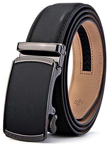 BULLIANT Hombre Cinturón-Cuero Automática Cinturón
