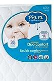 P'tit Lit - Matelas bébé Duo Confort - 60 x 120 x 12 cm - Anti-acariens - Fabrication française