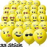HomeTools.eu - 33 Stück Smiley Luft-Ballons | lustige Freche Emoji Gesichter aufblasbar 30cm | Deko Party Fasching Kinder-Geburtstag | Gelb 33er Pack für HomeTools.eu - 33 Stück Smiley Luft-Ballons | lustige Freche Emoji Gesichter aufblasbar 30cm | Deko Party Fasching Kinder-Geburtstag | Gelb 33er Pack