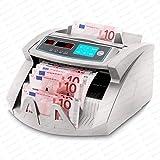 Geldzählmaschine Geldzähler Geldscheinzähler SR-3750 LCD UV/MG/IR von Securina24 (Silbergrau - LED)