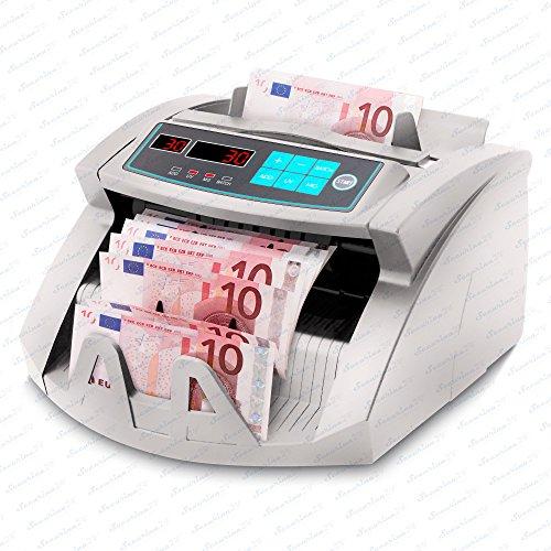 Geldzählmaschine Geldzähler Geldscheinzähler SR-3750 LCD UV/MG/IR von Securina24® (Silbergrau - LED)