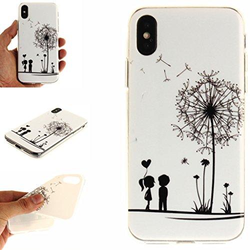 "Hülle für Apple iPhone X , IJIA Verrückt (DON'T TOUCH MY PHONE) TPU Weich Silikon Stoßkasten Cover Handyhülle Schutzhülle Bumper Handytasche Schale Case Tasche für Apple iPhone X (5.8"") Q11"