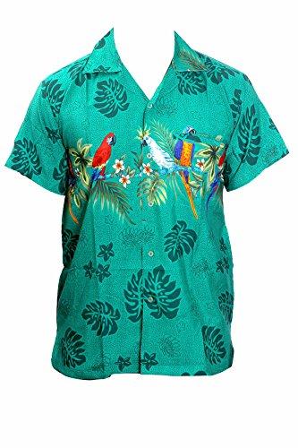 Camisa hawaiana para hombre, diseño de loros en el centro, para la pl