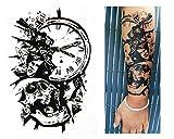 Temporäre Tattoos Temporary Tattoo Fake Tattoo -TOTENKOPF UHR-