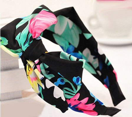bow-knot-headband-in-black-and-brightly-coloured-pattern-1940s-bohemian-chic-style-hair-accessory