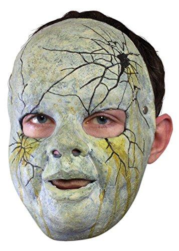 Schaurige Trophäenmaske Puppe mit Loch im Kopf LARP-Maske Krieger Fantasymaske Fasching - Fantasy Krieger Kostüm