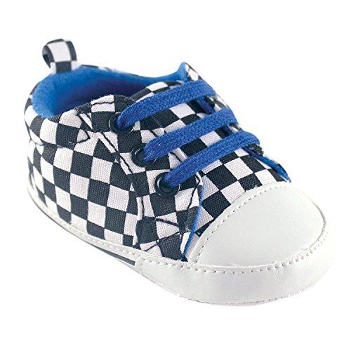 Luvable Friends , Chaussures souples pour bébé (fille) Rouge Blue Checkered 6-12 mois Blue Checkered