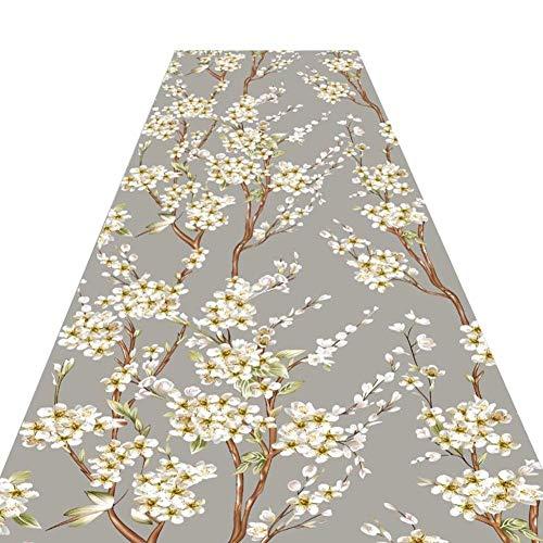 FINLR-Alfombras para Pasillos Largos Alfombras Pasillo Diseño Floral Impresión Hecho A Máquina A...
