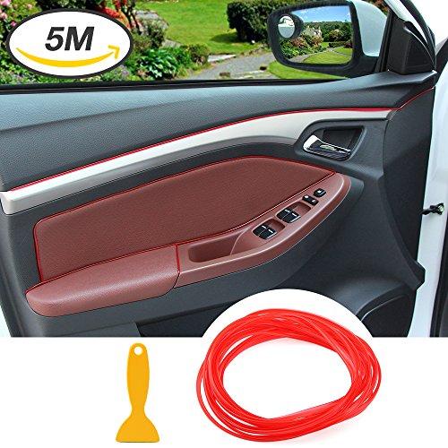 Auto con moldura cromo moldura Trim–Flexible Interior decorativa Rayas Line DIY 5metros