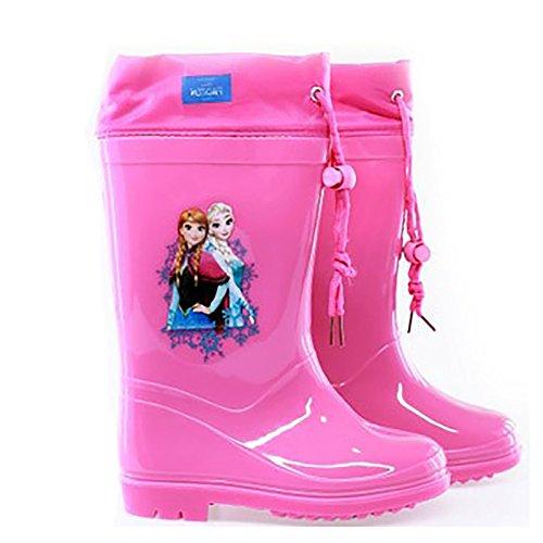 Stivali pioggia frozen bambina 22 24-26-28-30-32 elsa e anna disney (22, rosa)