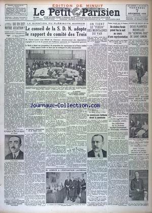 PARISIEN LIBERE EDITION DE MINUIT (LE) [No 21101] du 07/12/1934