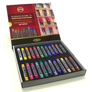 Koh-I-Noor Boîte de 24 pastels secs