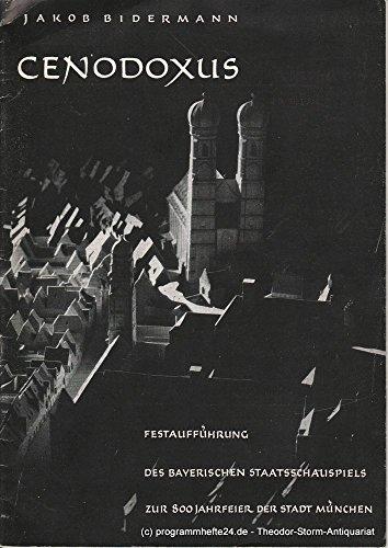 Programmheft Cenodoxus. Der Doktor von Paris von Jakob Bidermann 31. Juli 1958 Spielzeit 1957/ 58 Heft 9 / 10 / (Der Kostüm Doktor 11)