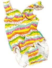 fashy Mädchen Baby-Badebekleidung Einteiler mit Windelhöschen
