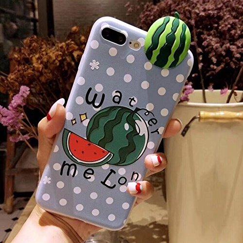 HuaYuannewcover Handmade Premium Für iPhone 8 Plus & 7 Plus Watermelon Muster schützende Anti-Rutsch-Full Coverage kunstvollen Design-Rückendeckel-Fall