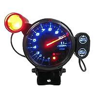 طقم قياس قياس قياس سرعة الدوران 3.5 سم أزرق LED 11000 لفة في الدقيقة مع ضوء نقل قابل للتعديل + محرك Stepping أسود
