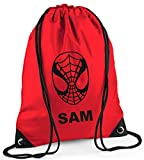 Best Spider-Man Book Bags For Boys - Personalised SPIDERMAN design Drawstring PE/Bag - *Choice of Review
