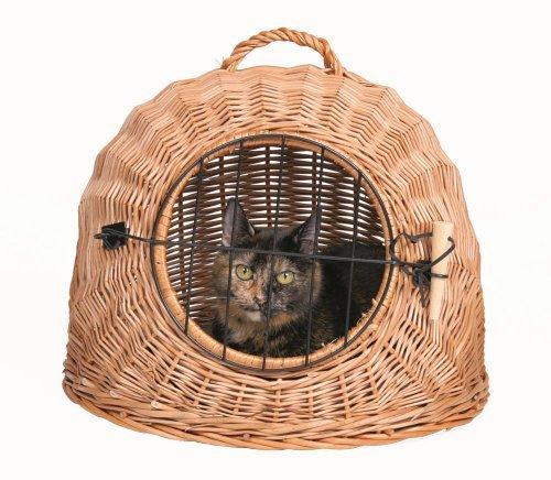 Trixie 2870 Transportín Mimbre Gatos Perro Pequeño