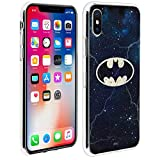 DC Comics Coque Apple iPhone X/XS Coque Design Logo Batman sur Fond Galaxie...