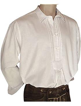 Trachtenhemd weiss Trachten-Pfoadl Musiker-Hemd Hirtenhemd Trachtenpfoadl Musikerhemd weiter Schnitt 100% reine...