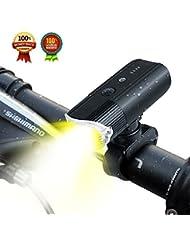 Eclairage Avant,SHENKEY USB Rechargeable LED Phare Lampe pour Vélo Puissante,4000 mAh/ 1000 Lumens Lumière Multi Modes d'éclairage Antichoc Impermeable IP65