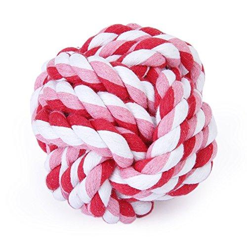jooks Reinigung Ball Knoten Ball Hund Geflochten Baumwolle Seil Spielzeug Zahnreinigung Ball, 5cm Puppy Chew Spielzeug Interaktives Spielzeug für kleine medium Große Hunde -