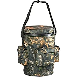 Nitehawk - Tabouret pivotant pour le tir/la chasse - poches de rangement - style camouflage