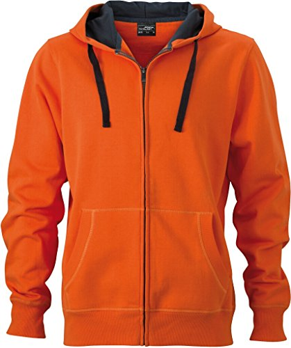 JAMES & NICHOLSON Premium Sweat-Jacke mit Bionic®-Finish dark-orange/carbon
