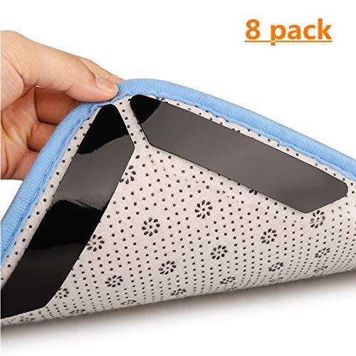 Tappeto gripper 8 pcs adesivo antiscivolo sottotappeto riutilizzabile per tappeti moquette fissa angoli tappeto anti-arriccia forte presa rug grippers pad