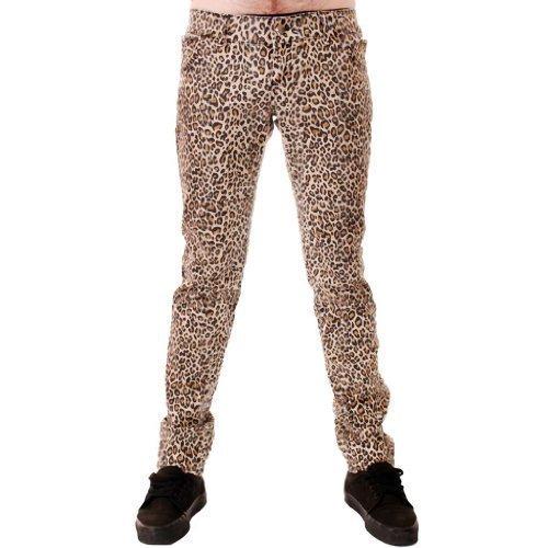 Natürlich Leopard Punk-Rock Glam Indie Retro Vintage 28 30 32 34 36 - Natürlich Lepoard, 32 ()