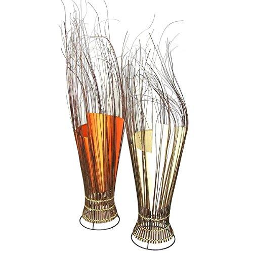 Deko-Leuchte Stimmungsleuchte Stehleuchte Tischleuchte Tischlampe Bali Asia Zweige 80 cm Color Weiß - Asiatische Tischleuchte
