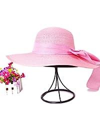44ba475a4f60b Versión Coreana De Sombrero De Paja Tejida En Verano Gorra Gran Sombrero  Ajuste Sombreros De Playa