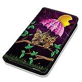 Hülle Galaxy S3 Mini Hülle Samsung S3 Mini i8190 i8200 Schutzhülle Handyhülle Flip Cover Case Samsung Galaxy S3 Mini i8190 i8200 (OM1071 Eulen Eule Love Pink Lila Grün Gelb)
