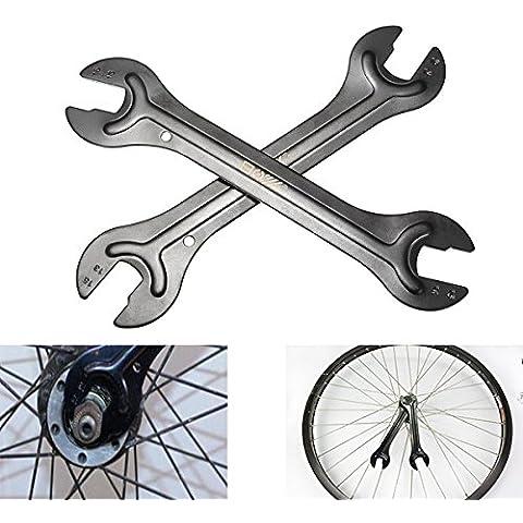 MaMaison007 Bicicleta bicicleta eje eje Cono llave llave cabeza extremo abierto reparación herramienta 13/14 15/16 mm