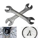 Inovey Fahrrad Fahrrad Achsnabe Kegelschlüssel Schraubenschlüssel Kopf Offenes Ende Reparaturwerkzeug 13/14 15/16 mm