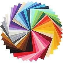 44 Hojas de Fieltro No Tejido Tela Fieltro Grueso de Acrílico para Manualidades Patchwork Costura DIY Craft Trabajo 10*10cm Espesor 1mm Colores Mixtos