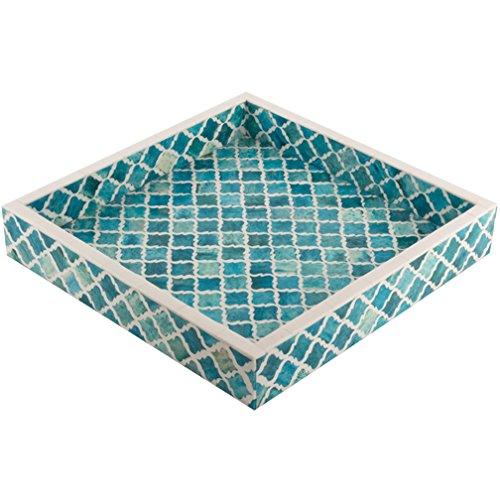 Moderne-holz-badezimmer-eitelkeit (Eccolo Naturals Tablett, maurischen türkis, 12x 12Zoll)