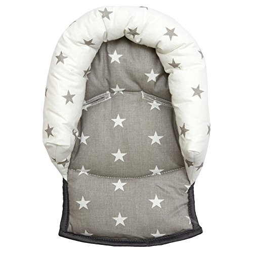 universal-infant-baby-toddler-car-seat-stroller-head-support-pillow-soft-cotton-star-grey-white