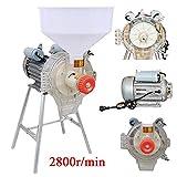 Elettrico 220V Commerciale Macinino Mulino per Macinare di Grano Soia Mais Farina Cereali Riso Pane con Imbuto