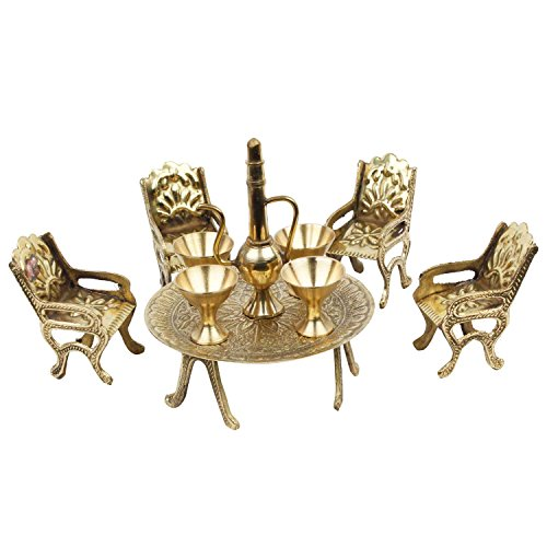 Indian Handicrafts Export Unique Design Dining Table Chair Maharaja Set (Chair Antique Dining)