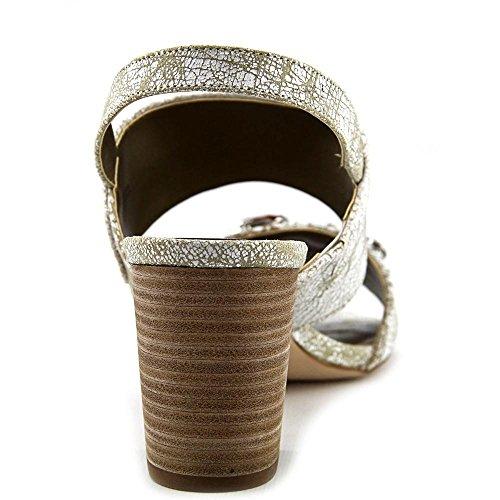 Tahari Allie Cuir Sandale white