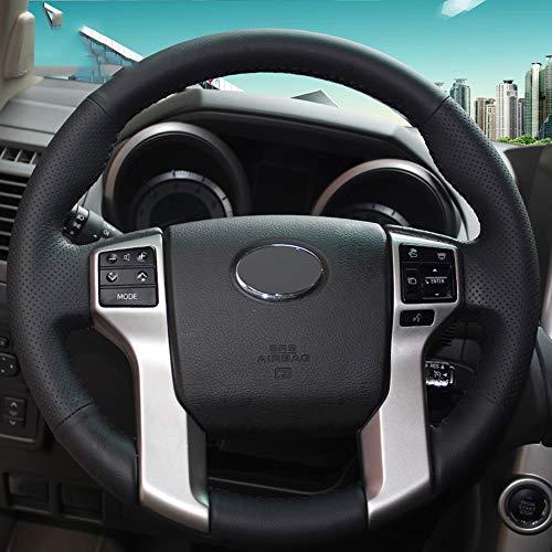 ZYTB Für Schwarz DIY Auto Lenkradbezug Für Toyota Land Cruiser Prado 2010-2015 Tundra Tacoma 4Runner,Black Thread