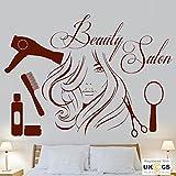 Schönheitssalon Friseur Hairstylist Pamper Wandkunst Aufkleber Vinyl Zimmer Schlafzimmer Jungen Mädchen Kinder Erwachsene Home Wohnzimmer Zitate Küche Bathro om Zubehör Wandbild
