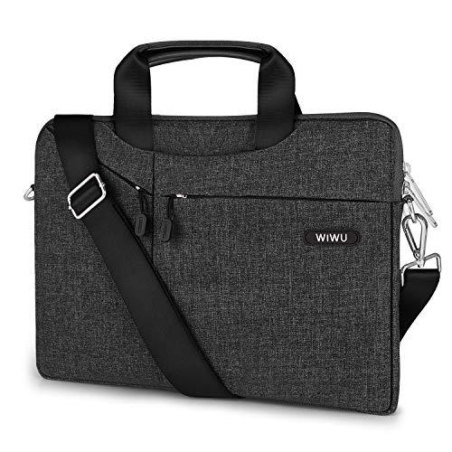 EKOOS 13 Zoll Laptop Notebook Schultertasche, Business Aktenkoffer Tasche Hülle Sleevel wasserdichte für 13 Zoll New MacBook Pro Touch Bar/Air/Pro Surface Laptop 2017 (13,3, Schwarz)